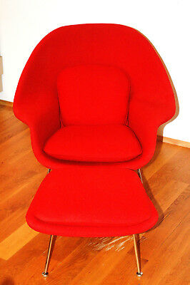 Knoll Eero Saarinen Womb Chair and Ottoman & EERO SAARINEN WOMB Chair by Knoll/ original. 30