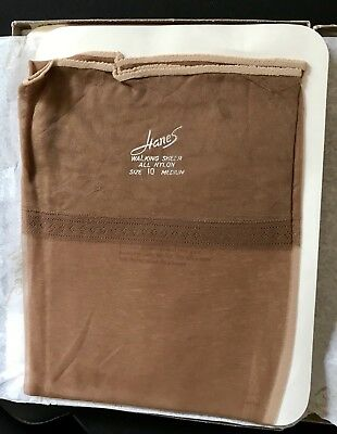 3 Pr. Lot NWT, Vintage Hanes Barely There Nylon Stockings Hosiery RHT Sz 10 M