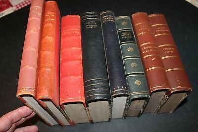 VINTAGE Leather Binding Lot of 8 DANISH Books  1930s & 40s .... I Chose Freedom