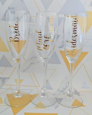 DIY Champagne Flute Vinyl Decal. Wedding Favour/Gift Hen Party Favour/Gift