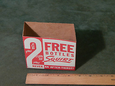 "Squirt Soda 2 Pack '50s (Cardboard Carton w/ Recipes) ""Never an After-Thirst!"""