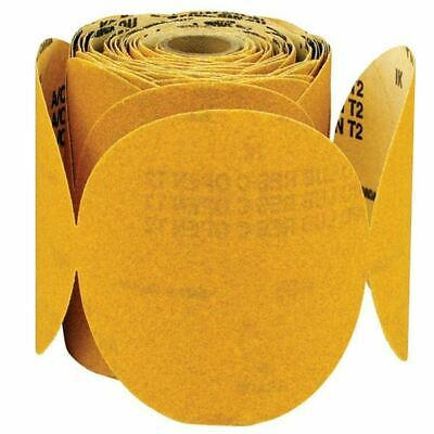 "Global Abrasives 05390 5"" x 240 Grit Alum Ox Gold PSA Discs-No Liner"