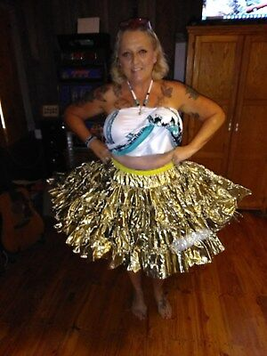 Gold Lame' Petticoat Square Dance Large with Petti Panties