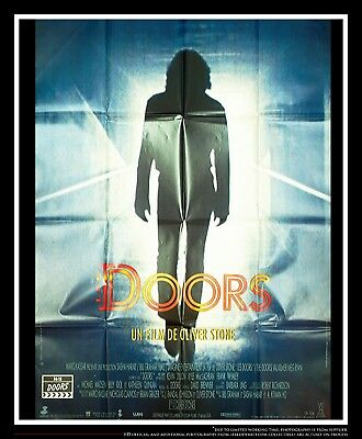 THE DOORS Oliver Stone 4x6 ft Vintage French Grande Movie Poster Original 1990