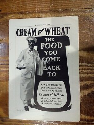 Group Of 3 - Cream Of Wheat Advertisements From The Early 1900s - Rastus In All