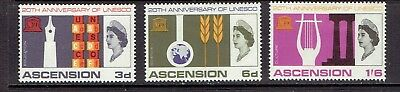 Ascension Island - 1967 Unesco Anniversary Issue - Scott 108 To 110 - Mlh