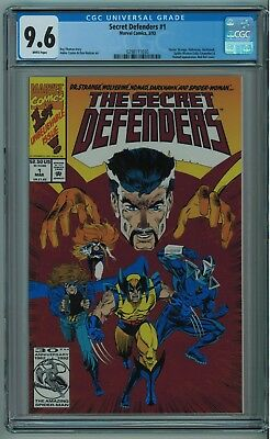 Secret Defenders #1 Cgc 9.6 High Grade White Pgs 1993