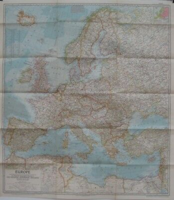 1957 Cold War Map EUROPE Hungary Poland Russia Germany Italy Greece France Spain