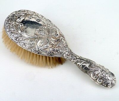 Silver Bbrush Art Nouveau Embossed Decoration