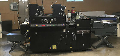 AB Dick 9985 Small Offset Press • 2 Color With Crestline and Envelope Feeder!