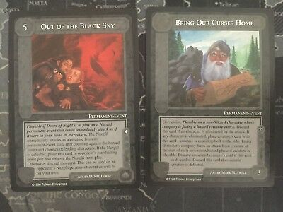 Out fo the Black Sky / Bring Our Curses Home - Middle-Earth CCG MECCG SATM METW