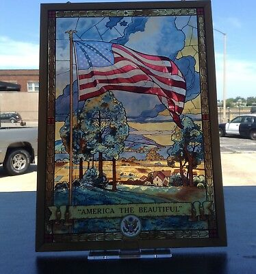 Jack Woodson America The Beautiful Stained Glass Panel  Glassmasters
