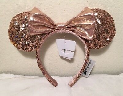NEW Disneyland - ROSE GOLD - Minnie Mouse Ears Headband - AUTHENTIC