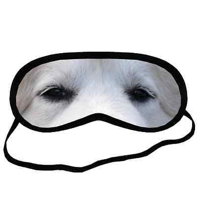GREAT PYRENEES EYES Dog Puppy Lovers Small-Med Size Black SLEEP MASK Gift