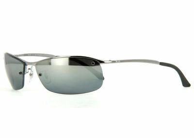 95031154d9 Ray Ban RB 3183 004 82 63mm Gunmetal Polarized Mirror Sunglasses New  Authentic