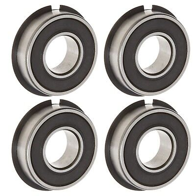 Set of 4 High Speed Wheel Bearing w/ Snap Ring 1-3/8 OD x 5/8 ID Go Kart Parts