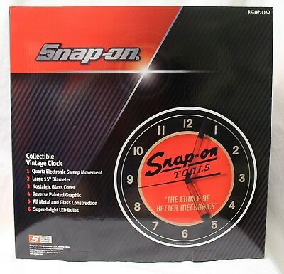 Brand New Factory Sealed Snap-On Tools Collectible Vintage LIght Up Clock