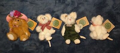 LOT of 4 BOYD BEARS BUNNY, MICE & FRIENDS INVESTMENT COLLECTABLES THE ARCHIVE