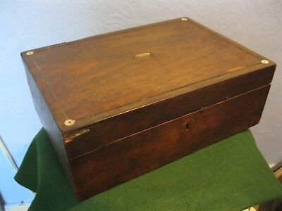Vintage/antique Small Writing Slope/box For Parts Or Total Restoration,
