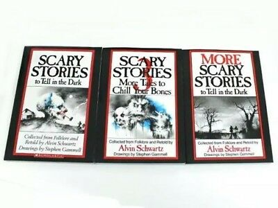 Scary Stories To Tell In The Dark (Set 1,2,3) ORIGINAL drawings NEW! GREAT GIFT