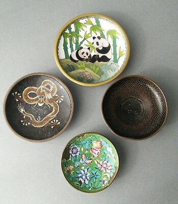 Chinese Cloisonne Pin dishes. Damaged.