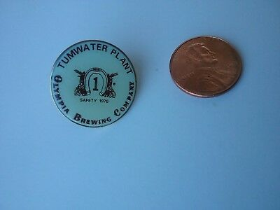 OLYMPIA BREWING CO 1976 Safety  lapel pin ~ TUMWATER PLANT
