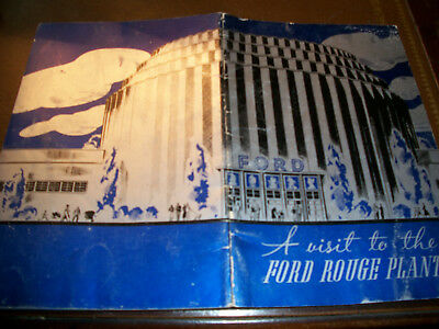 Ford Moter Rouge Plant advertising brochure 1937