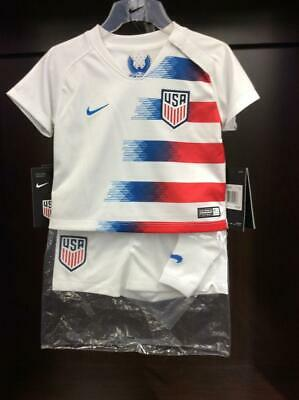 Nike Infant White Red USA 2018 19 Home World Cup Stadium Jersey Kit - f942112f9