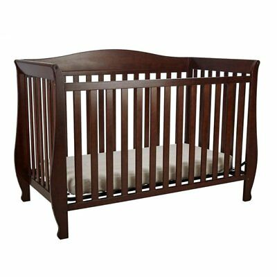 AFG Waverly 4-in-1 Convertible Crib with Guardrail by Athena