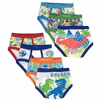 Jurassic World Boys Briefs Universal Toddler 7-Pack Underwear 100% Cotton