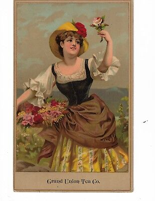 Jumbo Victorian Trade Card ~ Grand Union Tea Co. # 8 More Listed ~~~~~