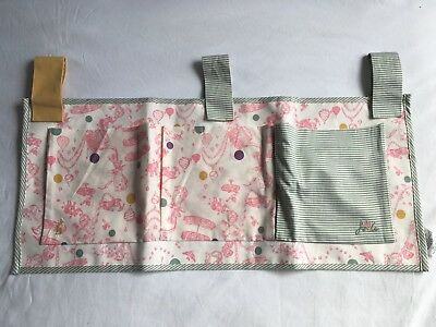 Baby Joules Cot Organiser Pink and Green Mad Hatters Tea Party