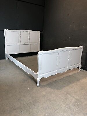 Vintage French King size bed/ Painted French bed (VB100)