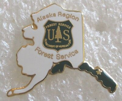 US Forest Service - Alaska Region Lapel Pin Hat Pin - Department of Agriculture