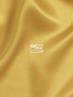 SUPER HEAVY SOLID JAPANESE SATIN FABRIC - Ancient Gold - BY YARD BRIDAL DRESS