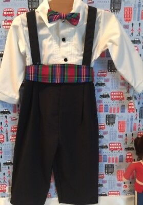 Vintage Downton Abbey Style Baby Boy Size 18 Mos. Outfit New W/tags Made In Usa