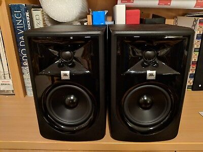"JBL LSR305P MKII 5"" Powered Studio Monitor Speaker - Pair, Black"