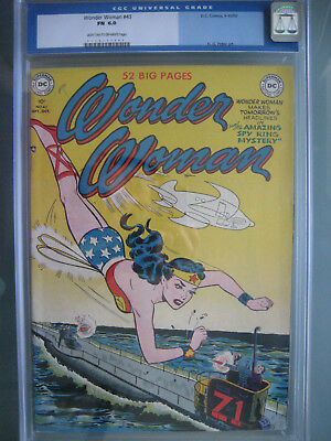 Wonder Woman #43 CGC 6.0 Unrestored **Invisible Jet Cover** DC Comics 1950