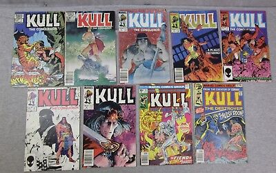 Marvel Comic Book Lot Kull The Conqueror 1 3 4 5 7 8 9 The Destroyer 19 29