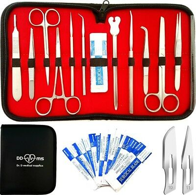 22 Pcs Advanced Dissection Kit For Anatomy Biology Medical Students With Scalp..
