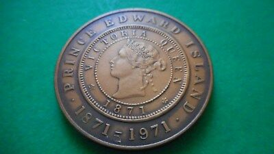 1871-1971 Prince Edward Island One Cent Commemorative (Mint Cond)