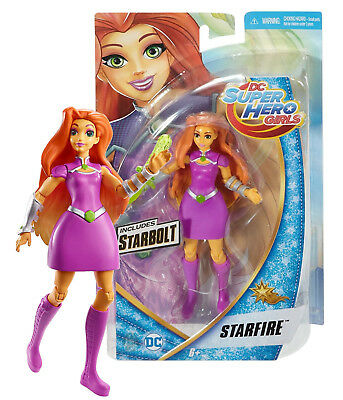 "DC Super Hero Girls Starfire 6"" Figure with Starbolt New in Box"