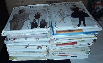 Mixed Lot of 44 Sewing Patterns, Simplicity, Butterick, Vogue, McCall's,   box 1