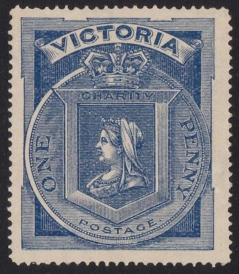 Stamps Australia - 1897 Victoria 1d Charity Stamp - Mint Hinged.