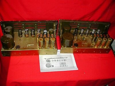 US Signal Corp Western Electric UTC 6V6 Tube Amplifiers [Pair]