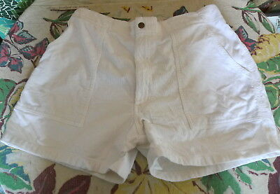 80's Vintage PENNEYS TOWNCRAFT White Corduroy Surf Shorts 36