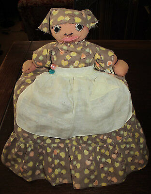 VINTAGE AMERICANA TOASTER COVER DOLL with LARGE Yellow SKIRT Handmade