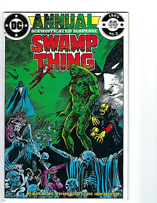 Swamp Thing Annual #2-  EARLY JUSTICE LEAGUE DARK STORY BY ALAN MOORE  CBG210