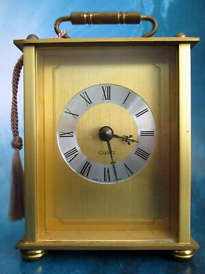 Carriage Clock Solid Brass Kienzle Quartz Made In Germany Desk Table Traditional