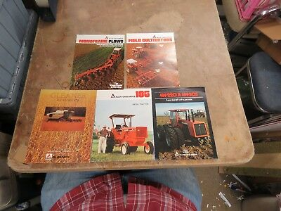 5 Vintage Allis-Chalmers 4W-305 tractor,plows, field cultivators brochure LOT